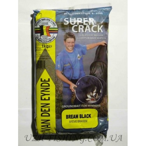 Прикормка VDE Supercrack Brasem Black 1 kg