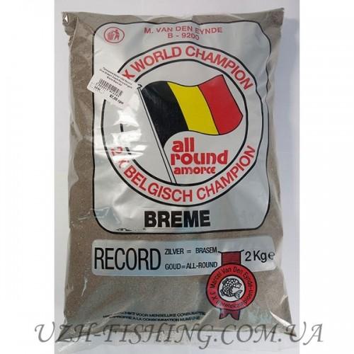 Прикормка VDE Record Zilver Brasem Zwart 2 kg