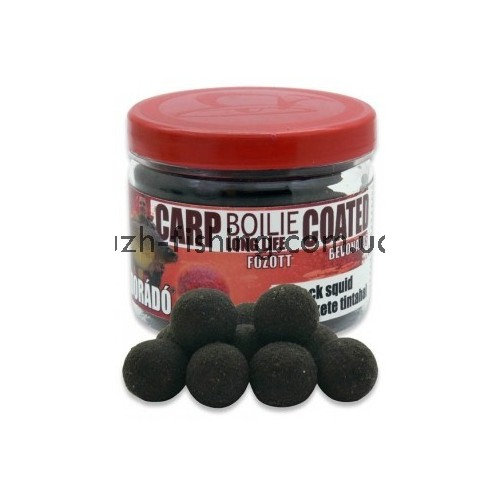 Бойлы Haldorádó Carp Boilie Long Life Coated - Black Squid (Чёрный кальмар) 70 gr