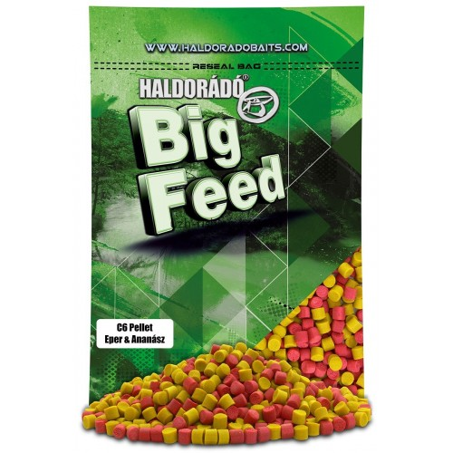 Пеллет Big Feed - C6 Pellet 6 mm - Eper & Ananász (Клубника ананас) 800гр