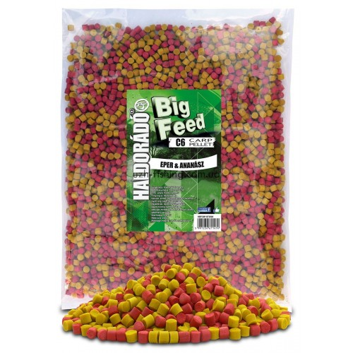 Пеллет Big Feed - C6 Pellet 8 mm - Eper & Ananász (Клубника ананас) 2,5кг