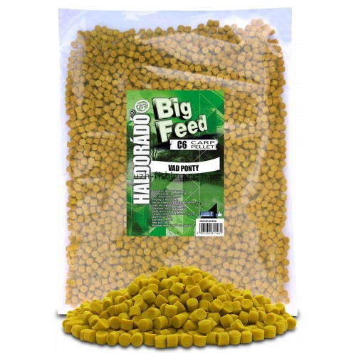 Пеллет Big Feed - C6 Pellet 8 mm -Vad Ponty (Дикий карп) 2,5кг