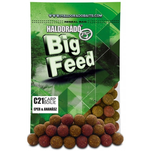 Бойлы Big Feed - C21 Boilie 21мм - Eper & Ananász (Клубника ананас) 800гр