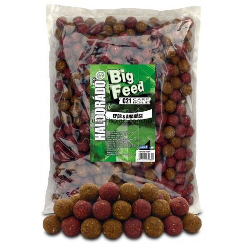 Бойлы Big Feed - C21 Boilie 21мм - Eper & Ananász (Клубника ананас) 2,5кг