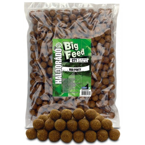 Бойлы Big Feed - C21 Boilie 21мм - Vad Ponty (Дикий карп) 2,5кг