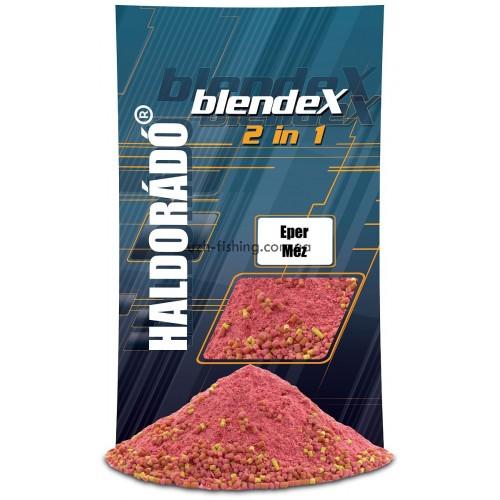 Прикормка Haldorádó BlendeX 2 in 1 - Клубника + мёд