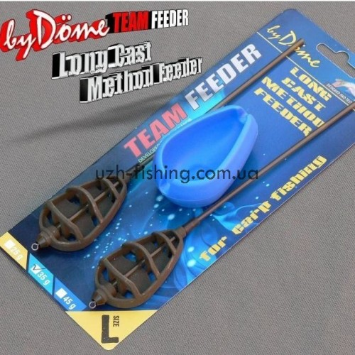 Комплект кормушки + топталка Haldorado Method Feeder LC 45гр