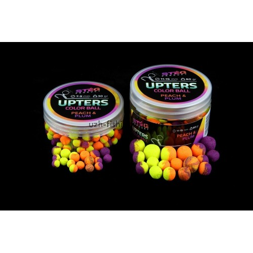 Бойлы Steg Upters Color Ball Персик-слива (PEACH & PLUM) 11-15мм 60гр